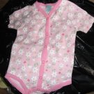 Pink infant girls' daisy onesie by Guyz N Dollz 6-9m