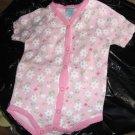 Pink infant girls' daisy onesie by Guyz N Dollz 6-9m