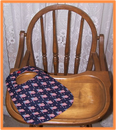 Toddler Bib American Flag on Dark Blue Sale Price