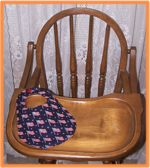 Baby Bib American Flag on Dark Blue Sale Price