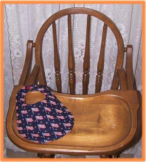 Baby Bib American Flag on Dark Blue Sale Price