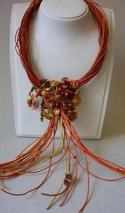Unigue necklace,skin-wire design