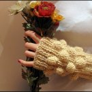 Beige mohair fingerles gloves for precious ladies.OOAK