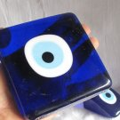 Glass Evileye wedge or napkin holder..Square