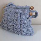 Hand knitted Grey bag.Handmade