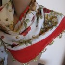 Traditional,ethnic Cotton floral shawl,scarf,needle work