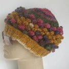 Crocheted-knitted colorful mohair hat,beanie,cap.berett