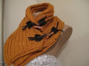 Knitted,citrine neckwarmer,neckwrap,scarf