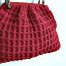 Crocheted red handmade bag