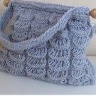 Knitted  blue bag.crochet,fashion,bag.