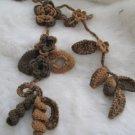 Crocheted brown flower.lariat