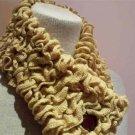 Caramel Ruffles neckwarmer scarf