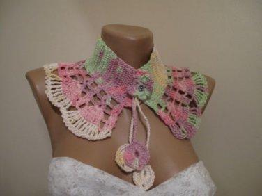 Crocheted collar,neckwrap.Handmade.OOAK..