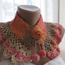 Crocheted collar,neckwrap.Handmade.OOAK..hand -crocheted.