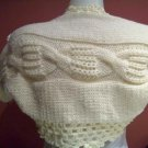 Hand knitted IVORY Shrug-plait style.Ready to ship.