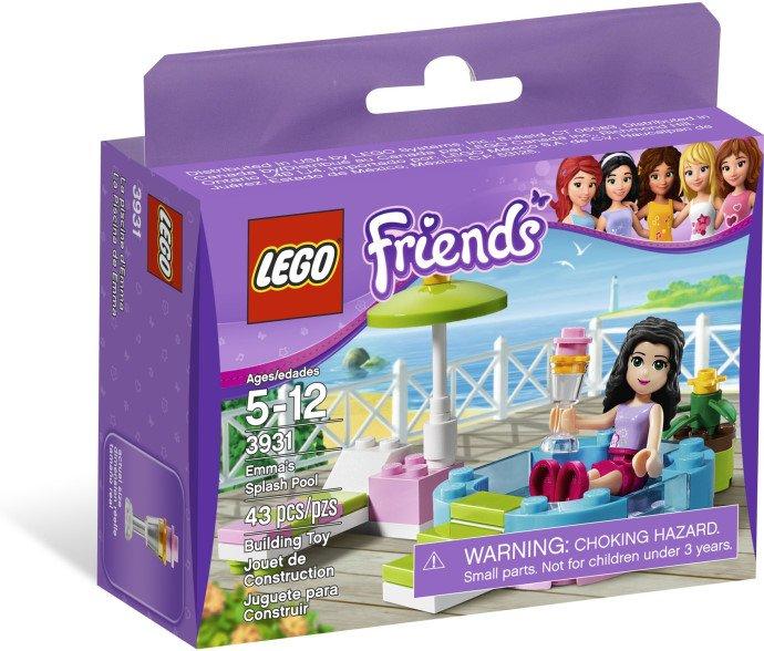Lego Friends Emma's Splash Pool 3931 (2012) New Factory Sealed Set!
