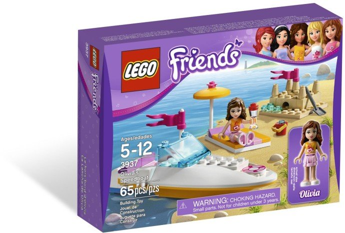 Lego Friends Olivia's Speedboat 3937 (2012) New Factory Sealed Set!