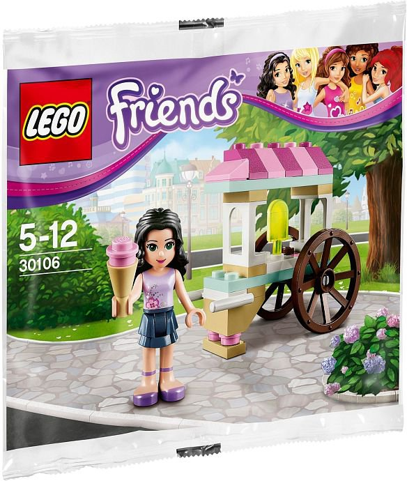 Lego Friends Emma's Ice Cream Stand 30106 (2013) New Factory Sealed Set!