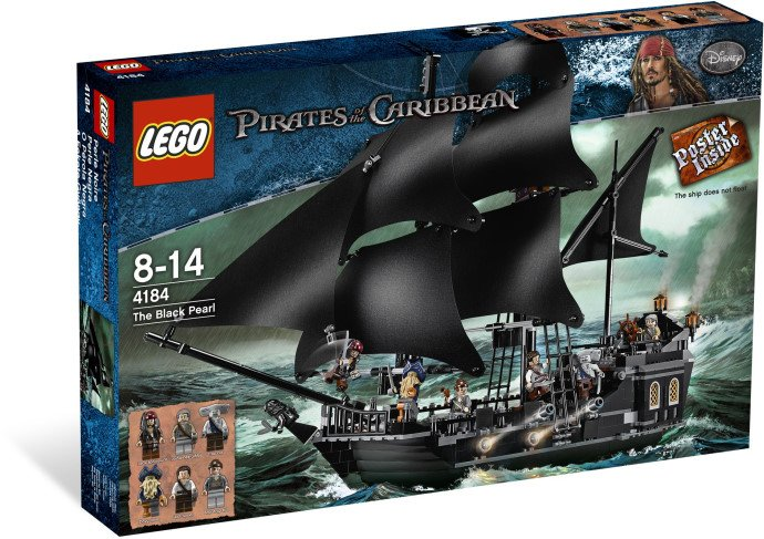 Lego Pirates of the Caribbean The Black Pearl 4184  (2011) New! Sealed!