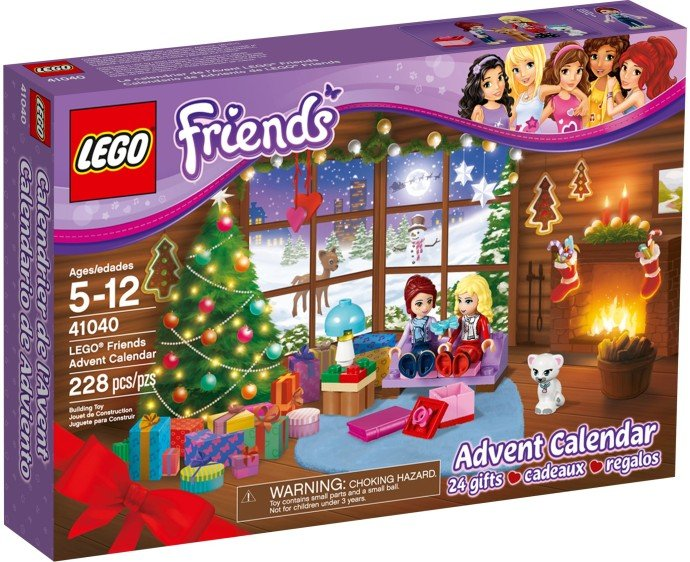 Lego Friends Holiday Advent Calendar 41040 (2014) New Factory Sealed Set!
