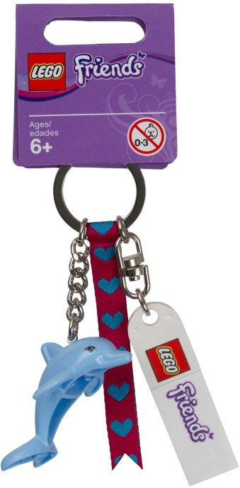 Lego Friends Dolphin Bag Charm Keychain 851324 (2014) New!
