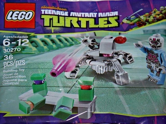 Lego Teenage Mutant Ninja Turtles Kraang Laser Turret 30270 (2013) New Factory Sealed Set!