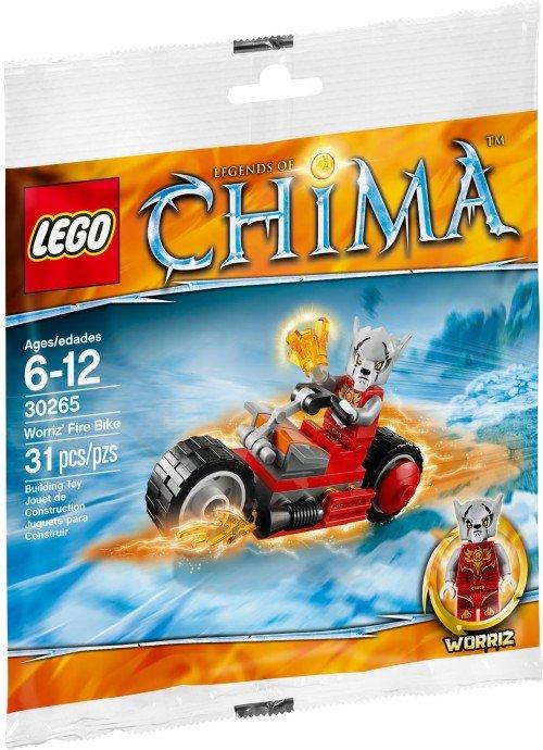 Lego Legends of Chima Worriz' Fire Bike 30265 (2014) New Factory Sealed Set!
