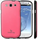 Samsung Galaxy S III 3 Caseology® Matte Hybrid Premium PU Leather Case Pink NEW Factory Sealed!