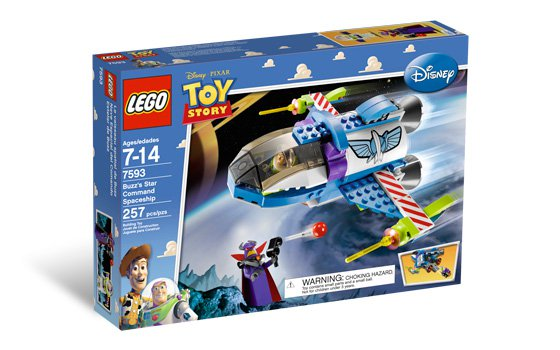 Lego Toy Story Buzz's Star Command Spaceship 7593 (2010)  New Factory Sealed Set!
