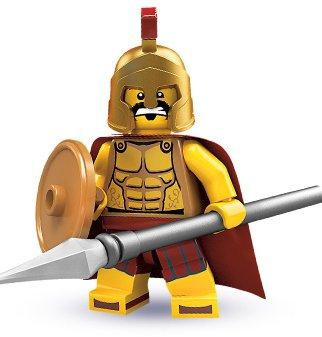 Genuine Lego Minifigure Series 2 8684 Spartan Warrior (2010) New! Factory Sealed!