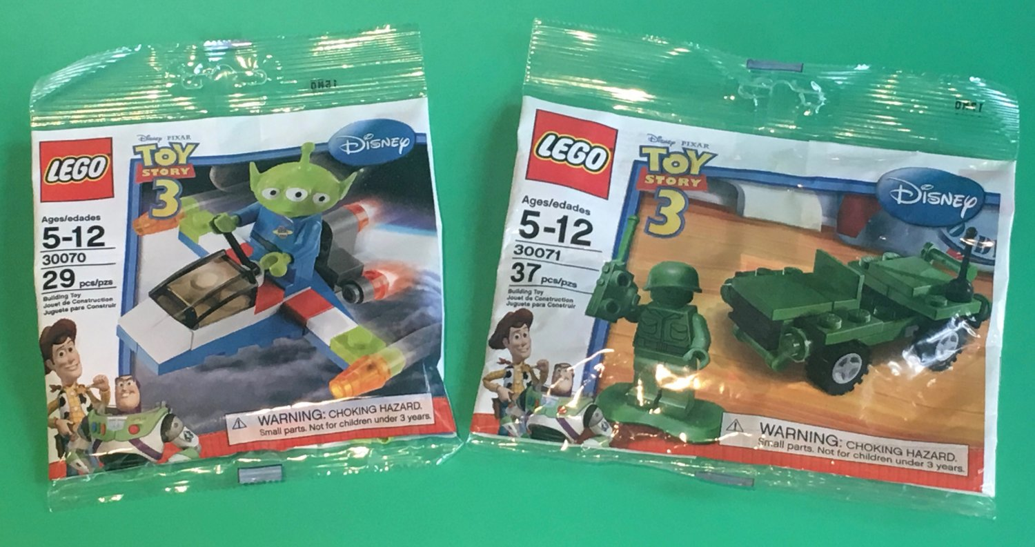 Lego Toy Story Alien Space Ship 30070 & Army Jeep 30071 (2010) New Factory Sealed Sets!