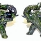 "Jade Elephants / 3.75"" - Set of Two (Green Jade)"