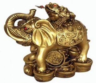 Lucky Frog on an Elephant (Hong Tze Collection)