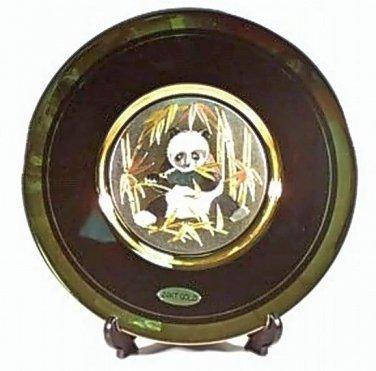 Panda Bear Gift Plate (24K Gold)