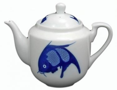 Blue Goldfish Teapot