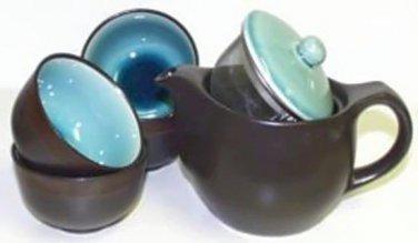 Ocean Blue Tea Set (Handcrafted in Japan)