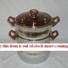 8 litre stainless steel Couscoussier (steamer)