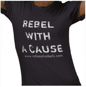 """Rebel With A Cause"" Womens T-Shirt"