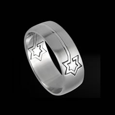 Puzzle Ring with Star of David (RSSO-335)
