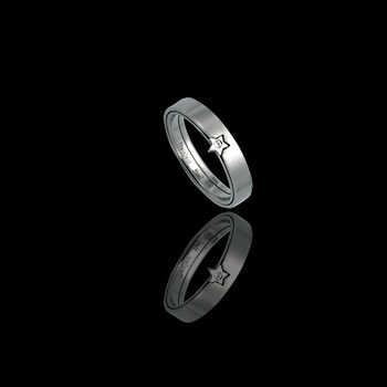 Two part ring with Star and CZ (RSS-95)