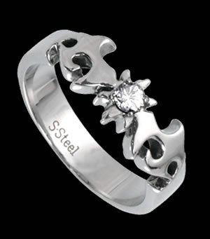 Designed band with CZ (RSSO-308)