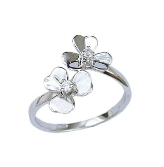 Simple Flower with CZ (231072)