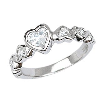 Heart Band with CZ (231061)