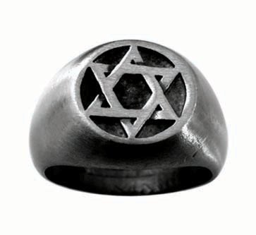 Pewter Ring with Star of David (PPR-141)