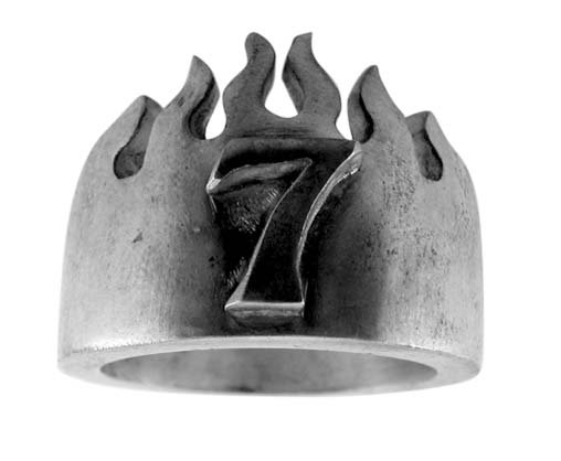 Pewter Ring with 7 Design (PRN-29)