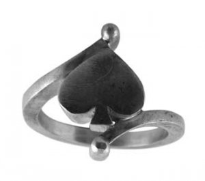 Pewter Ring with Spades Design (PRN-30)