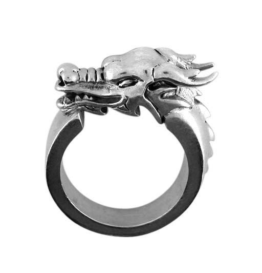 Pewter Dragon Ring (PRN-39)