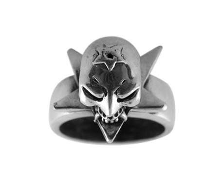 Pewter Ring with Joker (PRN-49)