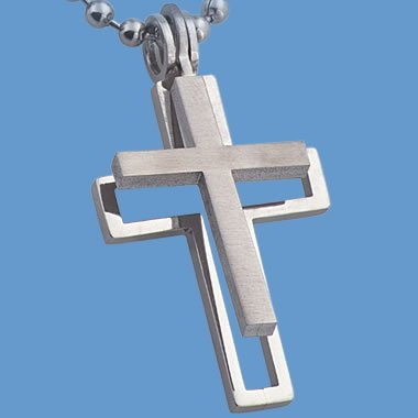 Stainless Steel Seperateing Cross Pendent (NSS-1-ss)