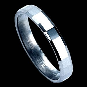 Diamond-Cut Tungsten Carbide Ring Design (RTS-7)